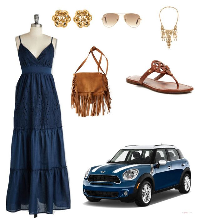 """""""weekend drive"""" by chantel-meavers on Polyvore featuring Tory Burch, American Eagle Outfitters, Ben-Amun and Ray-Ban"""