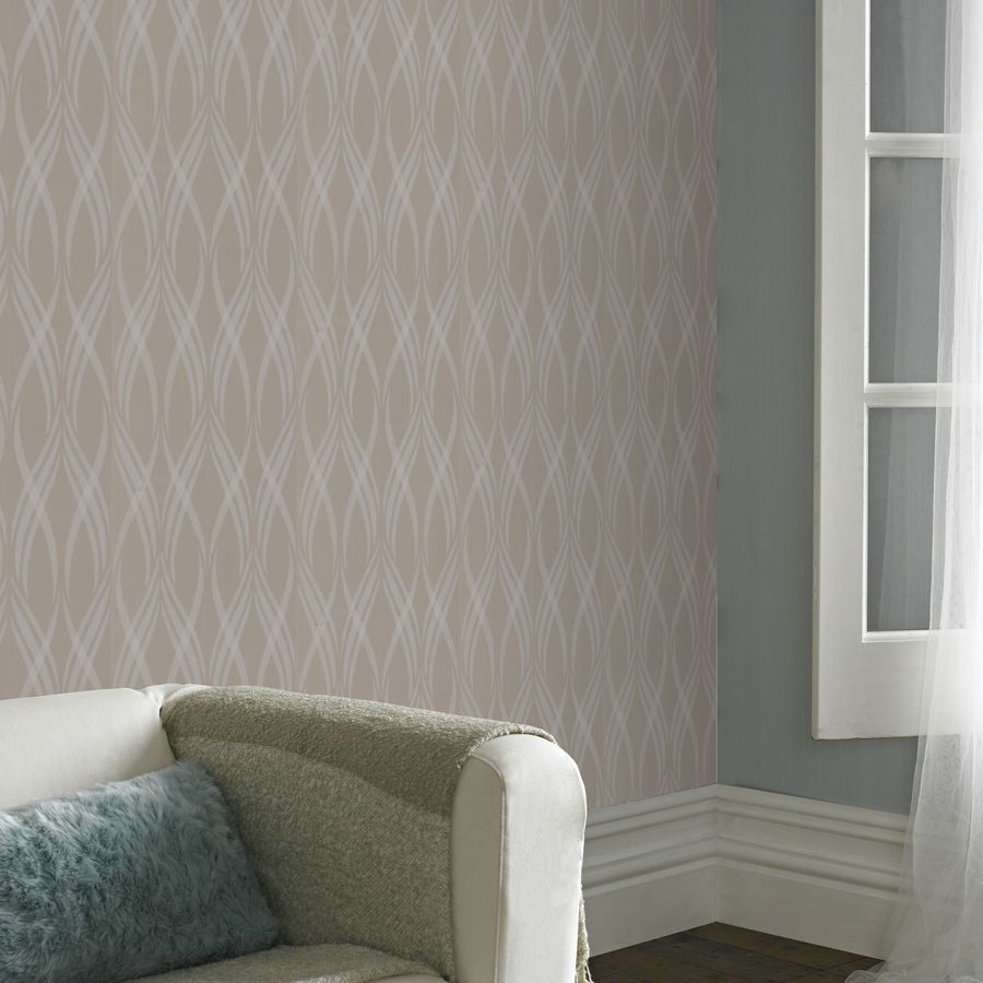 Shop Superfresco Easy Taupe Strippable Non Woven Paper Unpasted