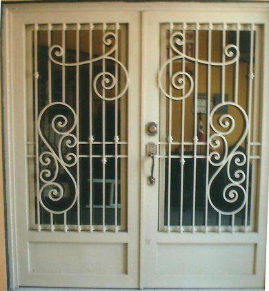 combinacion de hierro y madera puertas de