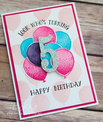 Look Whose Turning 5 A Birthday Card Made With Stampin Up UK