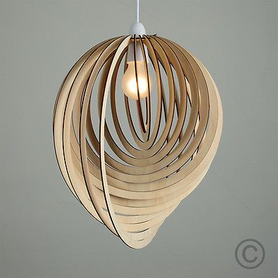 Contemporary Wooden 3d Sphere Droplet Ceiling Pendant Light Shade Lampshade Ceiling Light Shades Pendant Light Shades Ceiling Pendant Lights