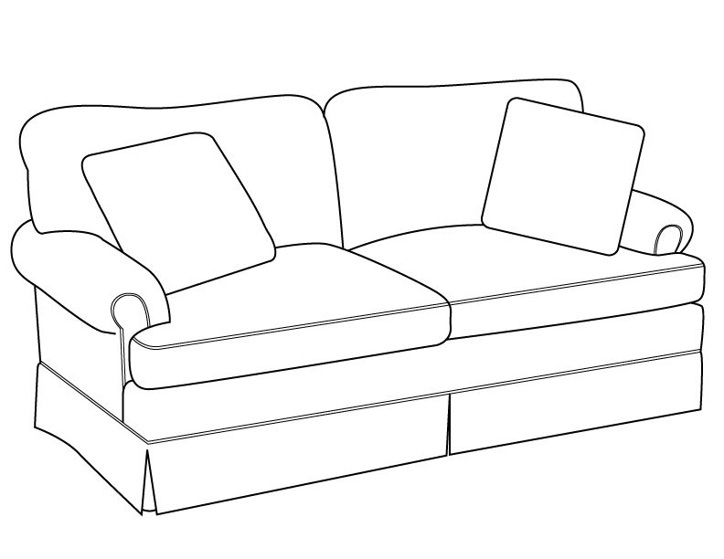Line Drawing Chair : Sofa drawingline drawing modern traditions furniture