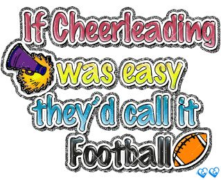 You hear that football players!!!!