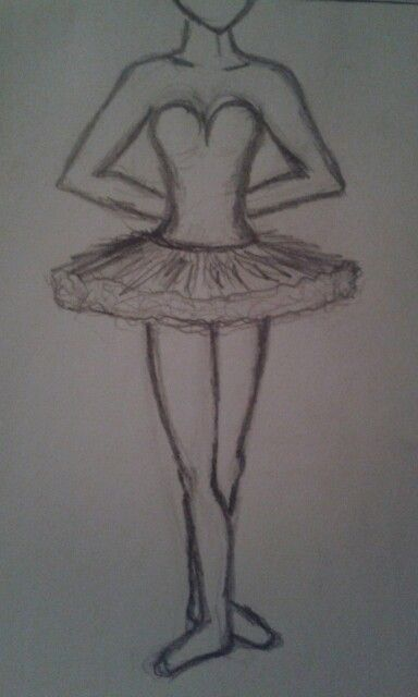 High speed ballerina drawing not anywhere near perfect for Ballerina drawing step by step