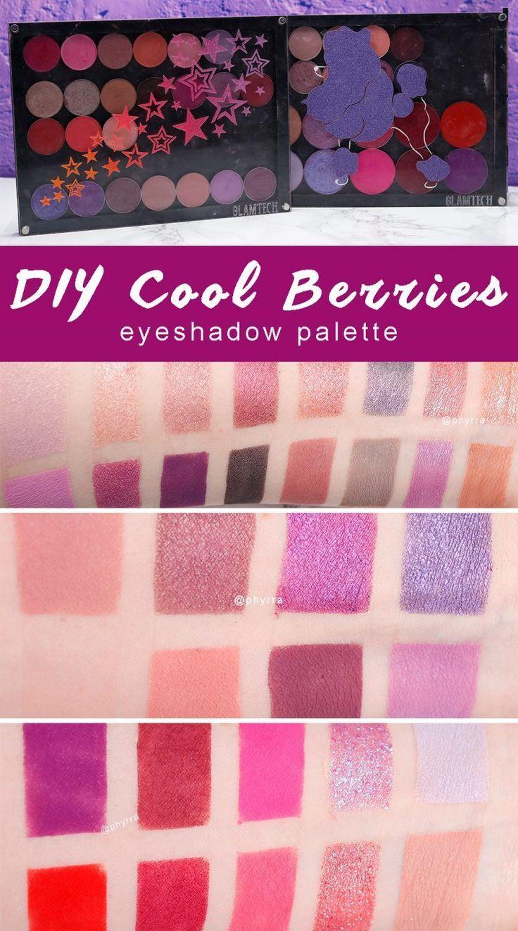 Warm Eyeshadow Palettes: DIY Cool Berries Eyeshadow Palette