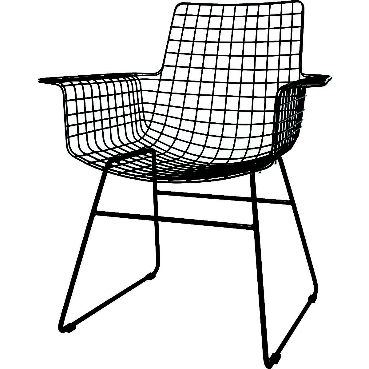 Wire Chair With Armrest U2022 WOO Design