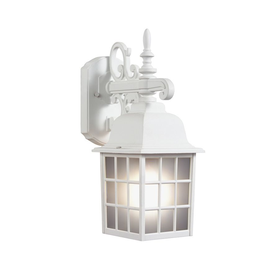 Shop portfolio 1437 in h sand white outdoor wall light at lowes shop portfolio 1437 in h sand white outdoor wall light at lowes aloadofball Choice Image