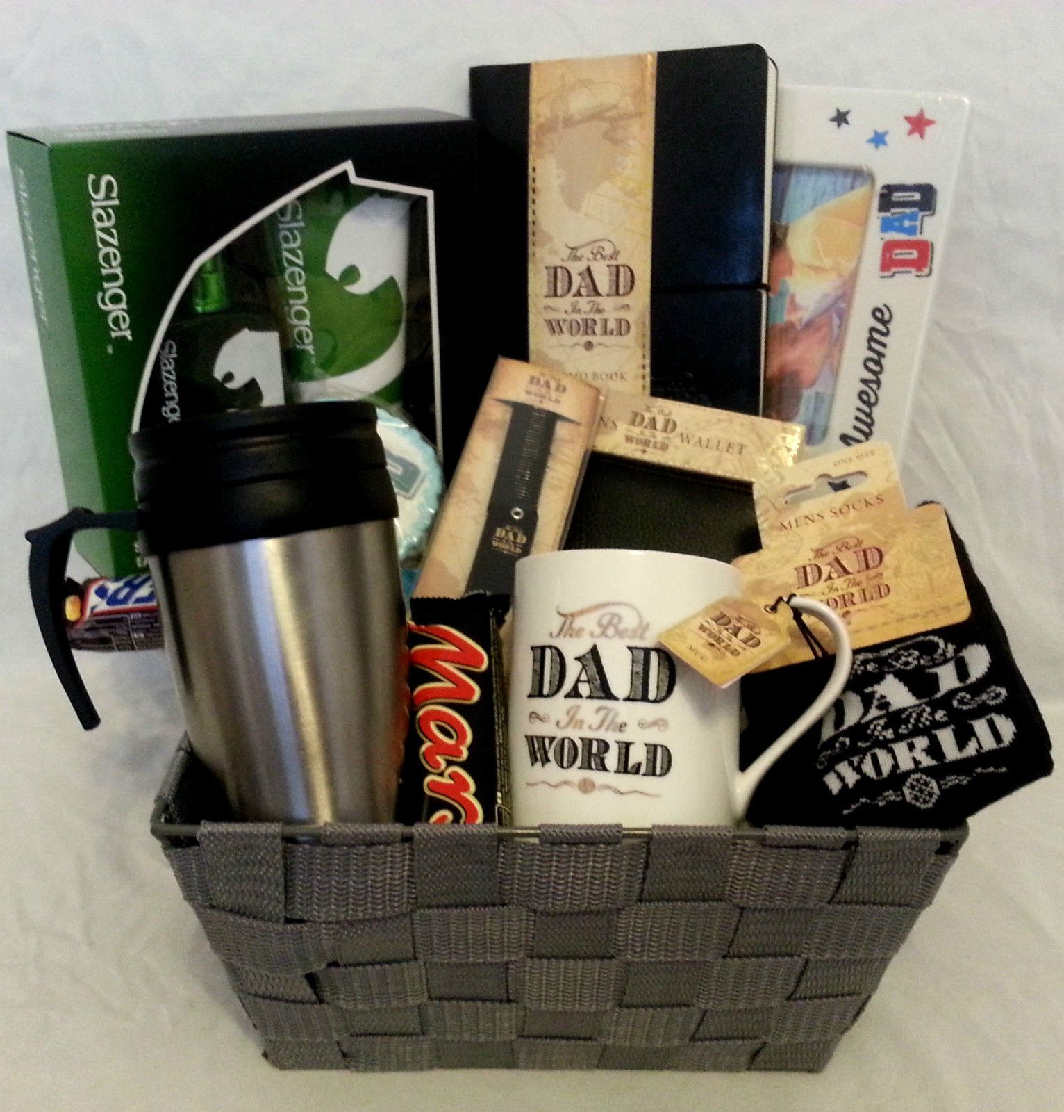 Fathers Day Hamper Basket Birthday Gift Box Set Thanks Present For Him Dad Daddy