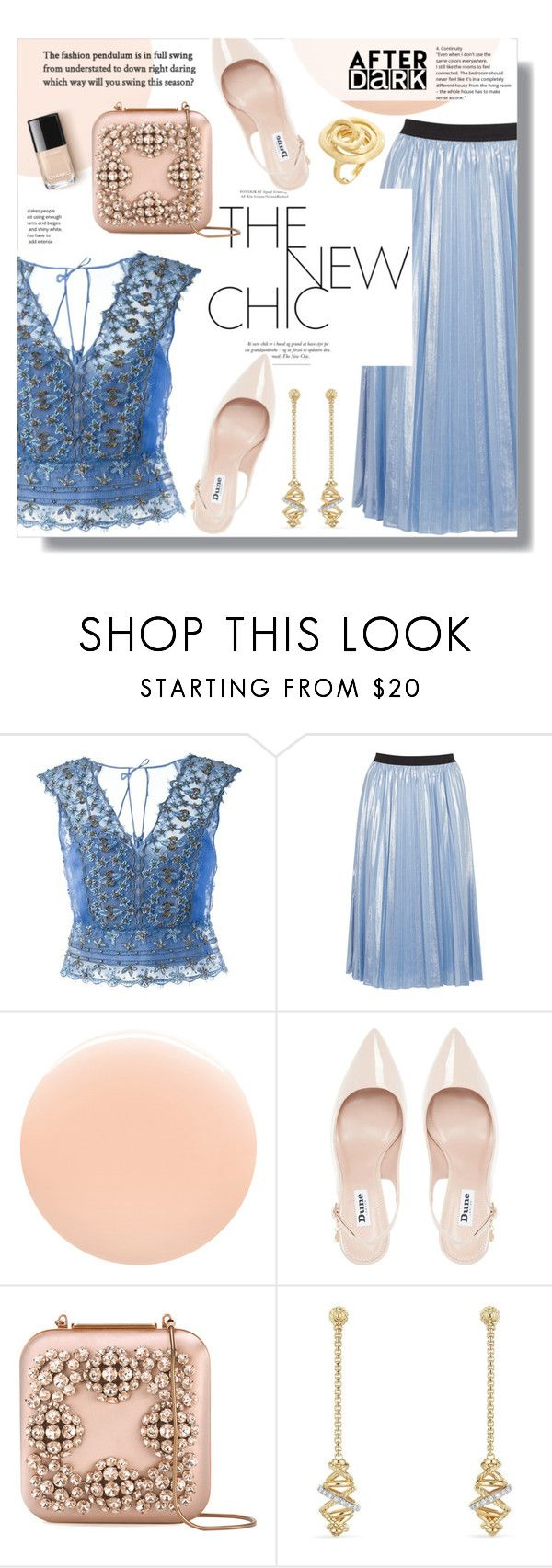 """After Dark: Party Outfits"" by sans-moderation ❤ liked on Polyvore featuring Alberta Ferretti, Pinko, JINsoon, Dune, Manolo Blahnik, David Yurman and Marco Bicego"