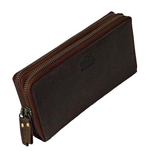 a8519600baf1c Branco extra große Leder Damen Geldbörse Portemonnaie Geldbeutel Börse  brown GoBago. Material sehr sauber