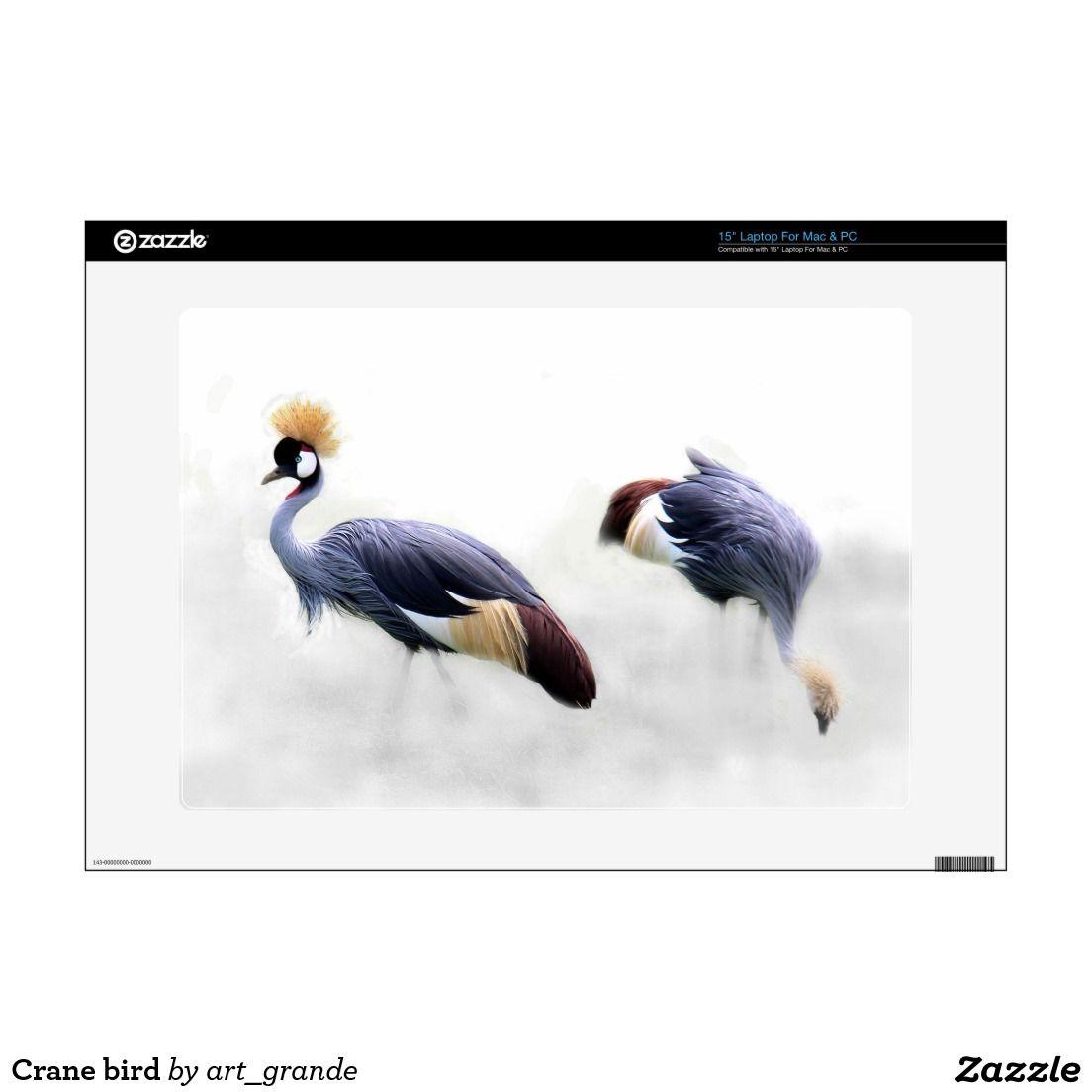 Crane bird decal for laptop