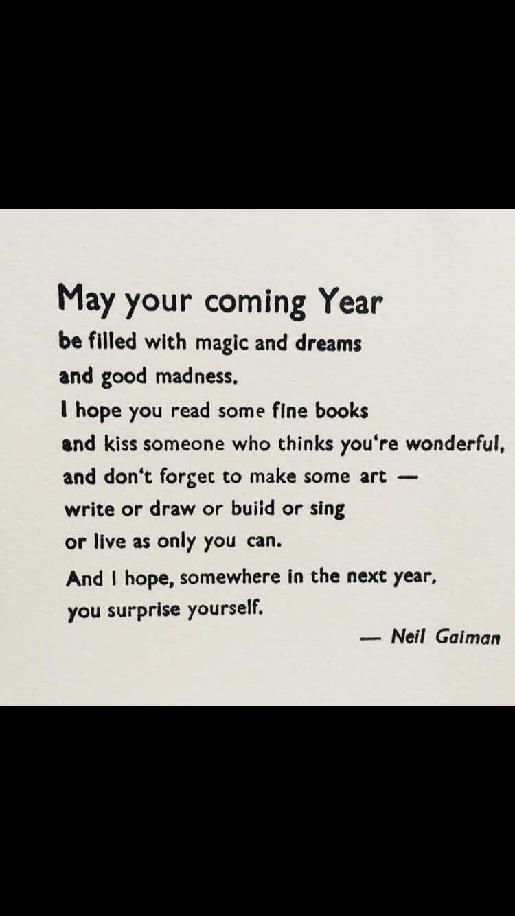New Years wishes from Neil Gaiman New year wishes, Words