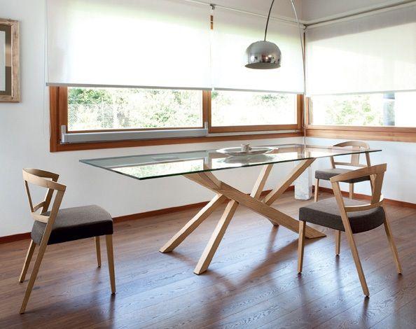 Rectangular Table Ashwood Frame Tempered Glass Or
