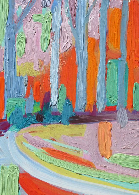 This is a semiabstract landscape series that was inspired