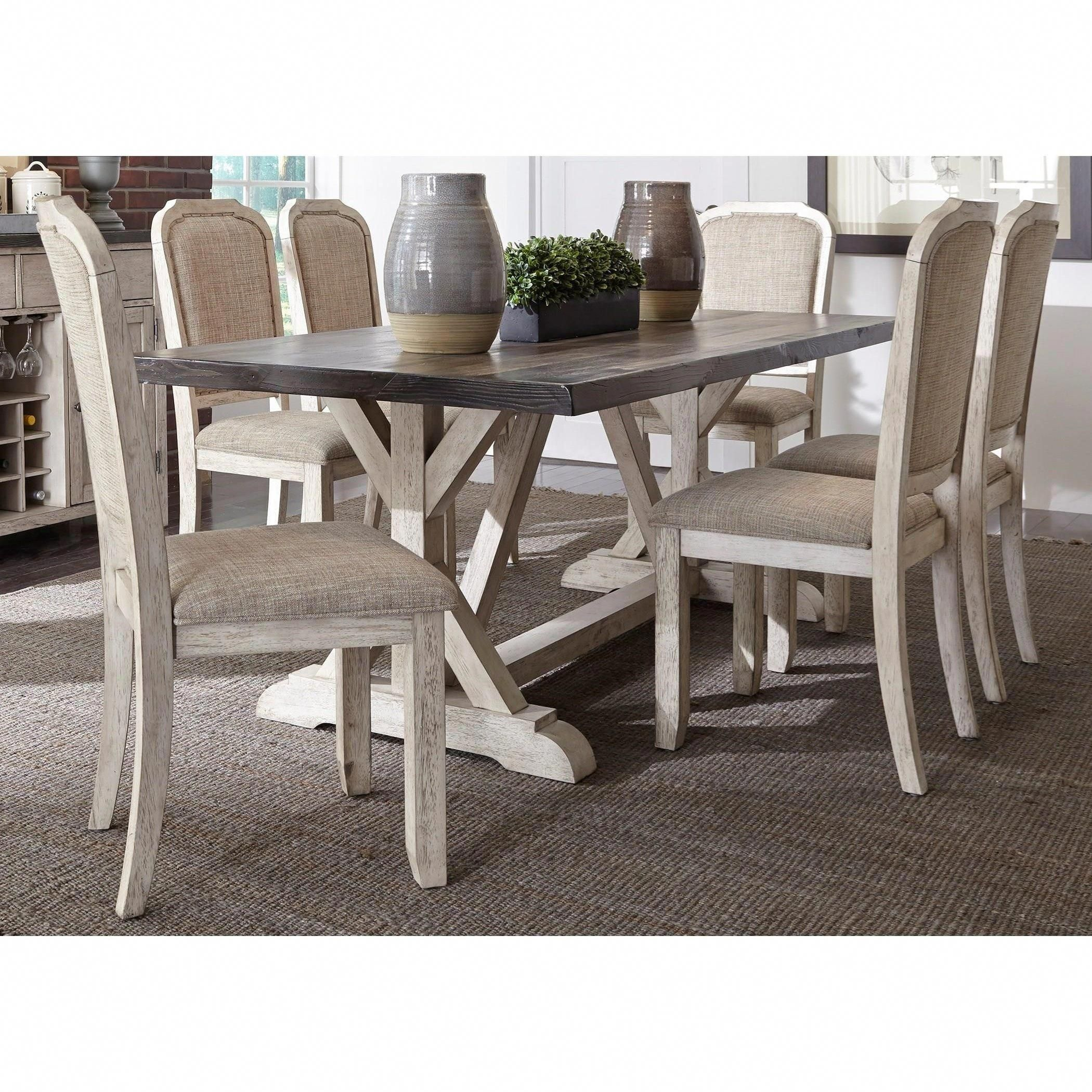 Willowrun 7 Piece Trestle Table Set By Liberty Furniture At Great