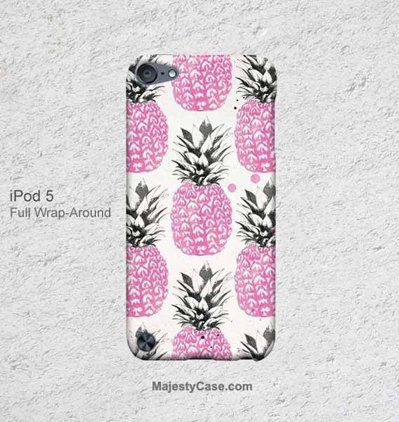 Cute Pink Pineapple Pattern iPod Touch 5 Case 4 Cover - Majesty Case