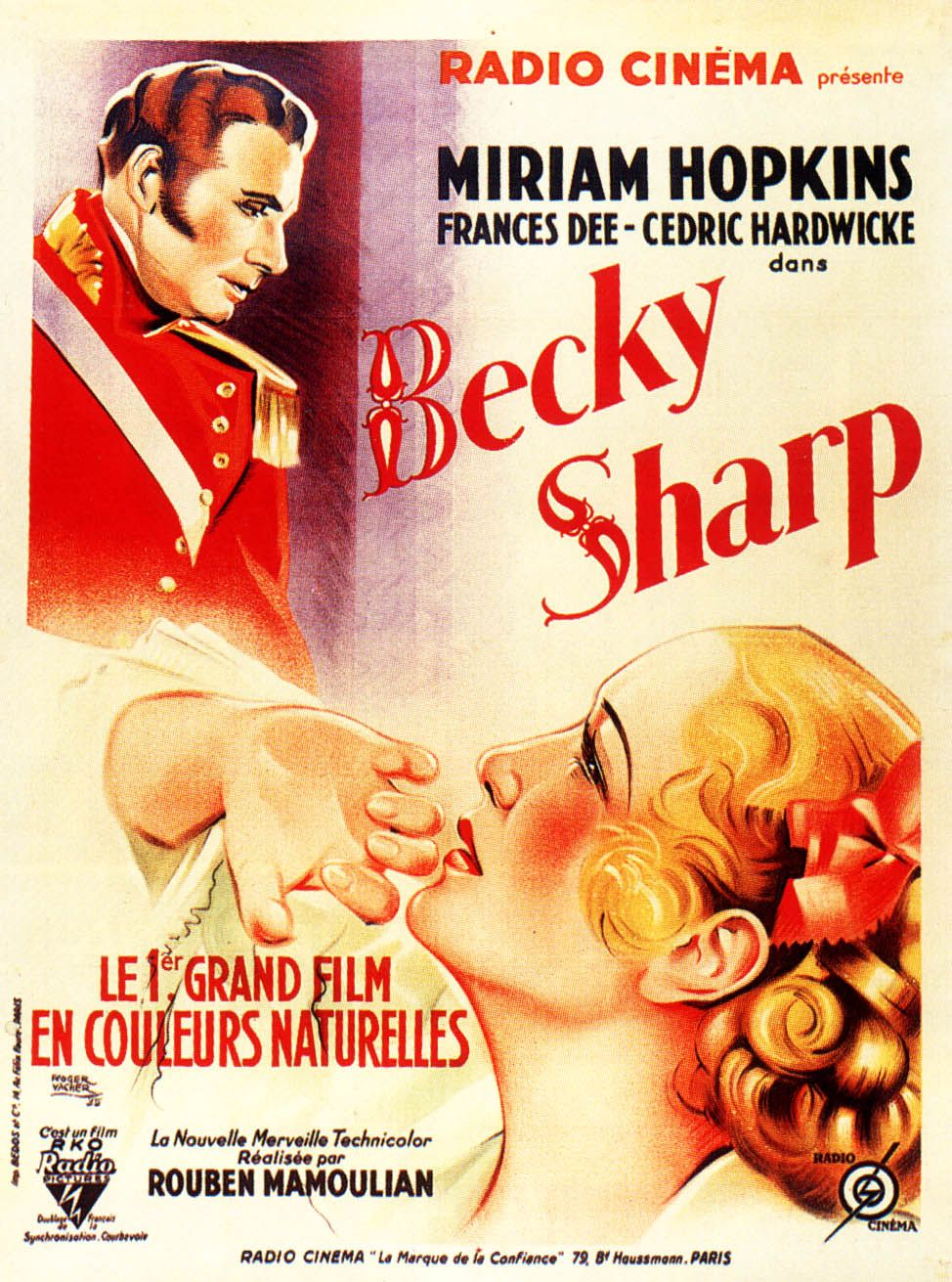 Becky Sharp 1935 Becky Sharp Movie Posters Vintage Miriam Hopkins
