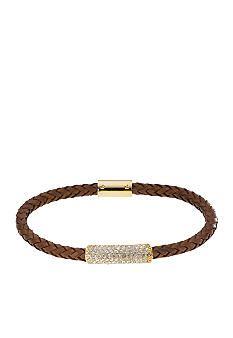 Michael Kors Jewelry Thin Braided Leather Bracelet Belk