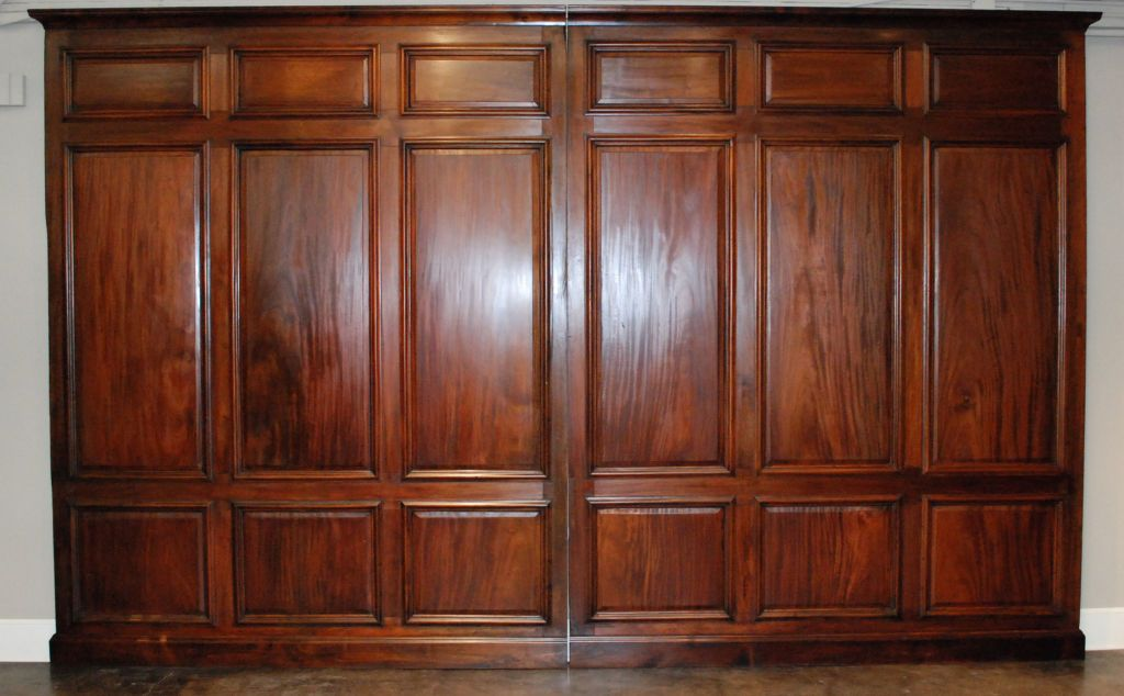 Library Panels Late 19th C Mahogany Paneling Wood Panel Walls Paneling