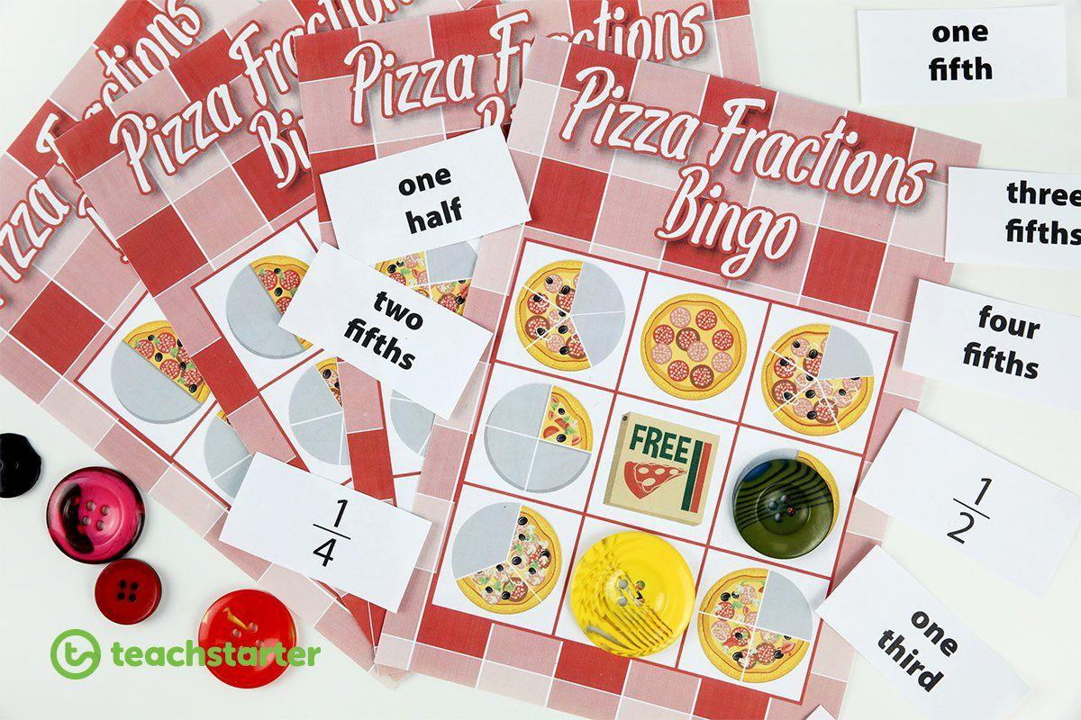 Pizza Fraction Bingo 1 2 1 3 1 4 1 5 Teaching