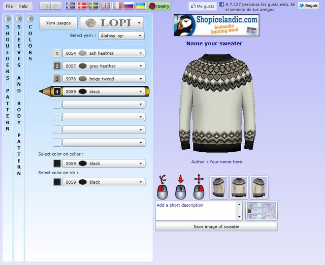 Software online para diseñar patrones de jersey (Gracias Alicia ...