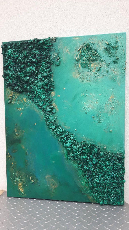 Smaragda Von Buntmalerei Auf Etsy Abstrakte Malerei