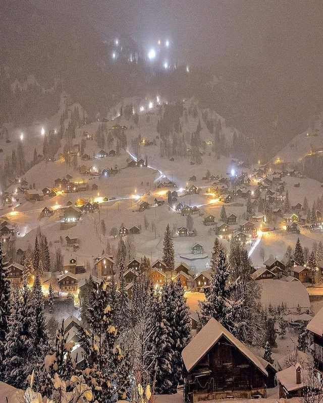 Cosy scene at Grindelwald Switzerland