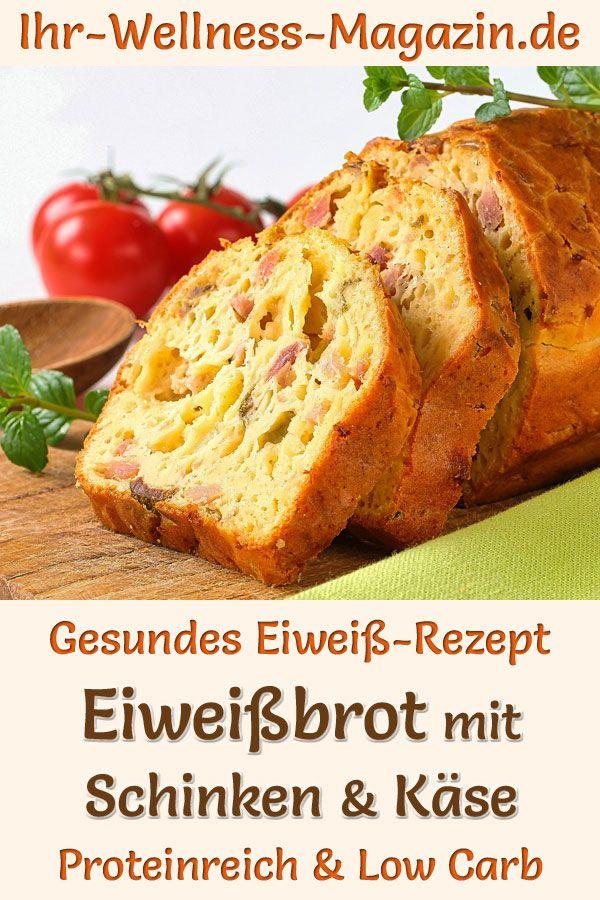 Eiweißbrot mit Schinken und Käse - proteinreiches Low-Carb-Rezept #onepandinnerschicken