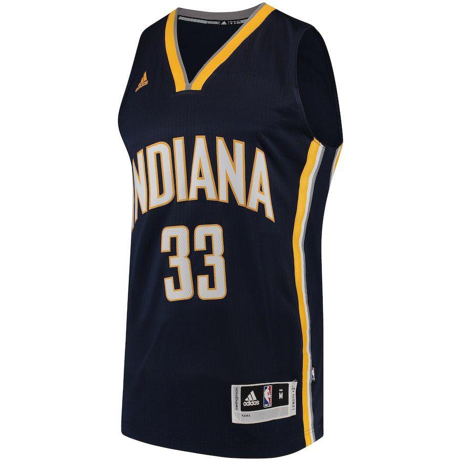 los angeles 5d516 bc96d Men's Indiana Pacers Myles Turner adidas Navy Road Swingman ...