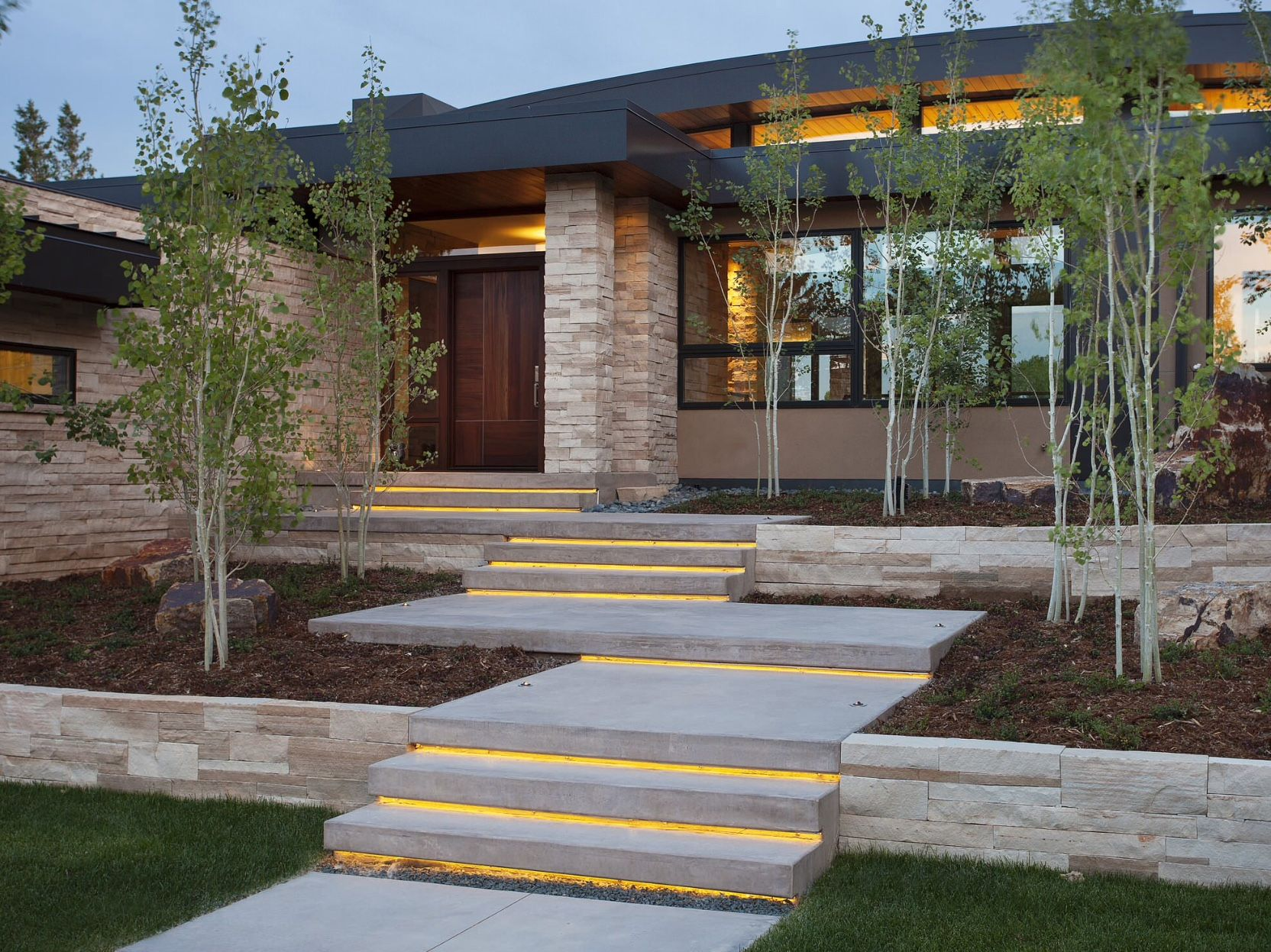 Best Lighting Under Steps Exterior Stairs Modern Landscaping 400 x 300