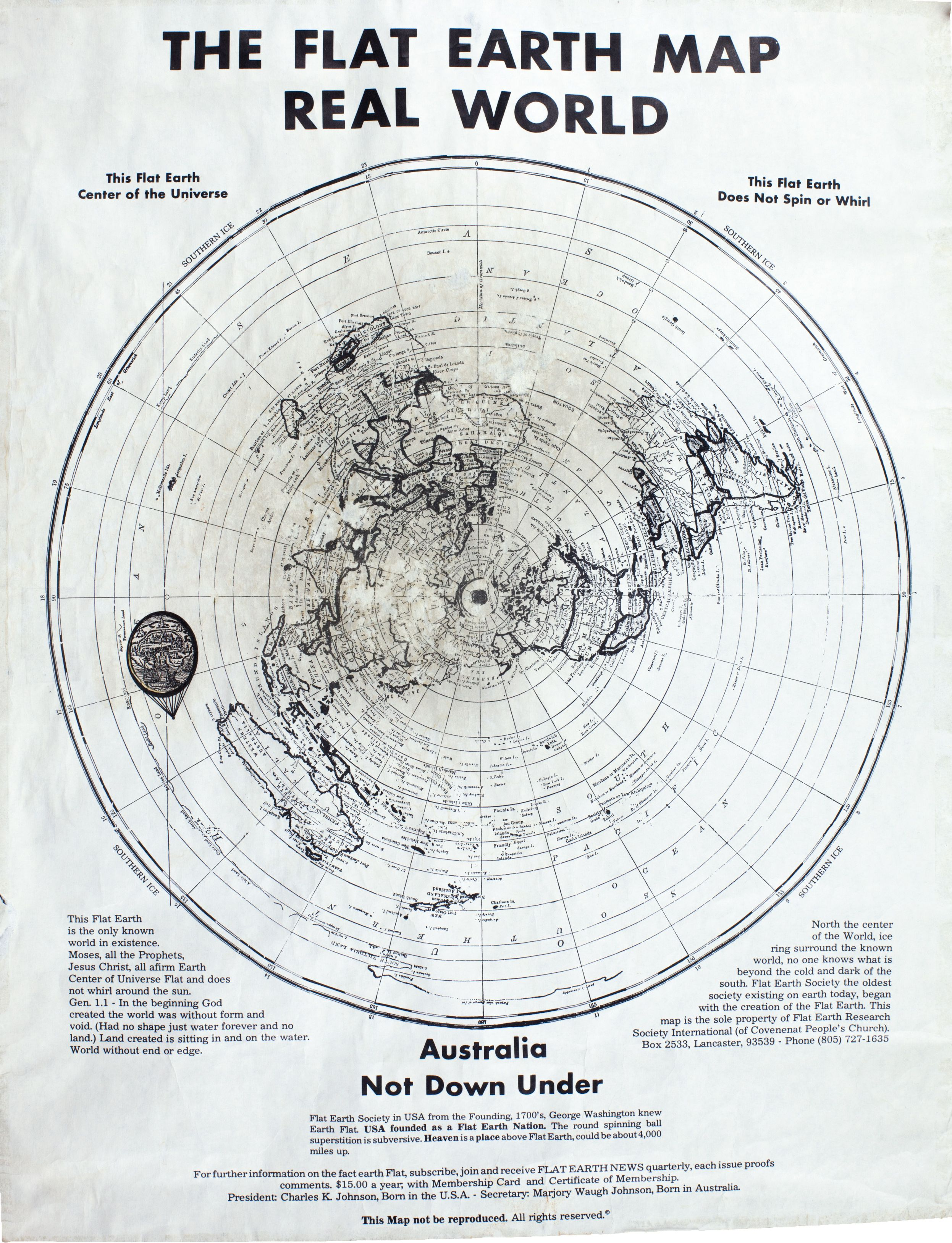 Flat earth map from former fes president charles k johnson flat earth map from former fes president charles k johnson gumiabroncs Images
