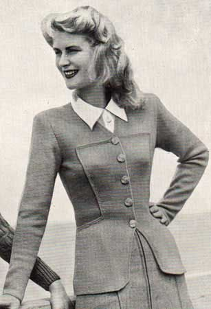 The Vintage Pattern Files Free 1940s Knitting Pattern Clarissa