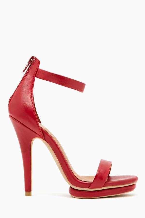 3e73eb16cabb Nasty Gal Jeffrey Campbell Burke Platform Heel - Red on shopstyle ...