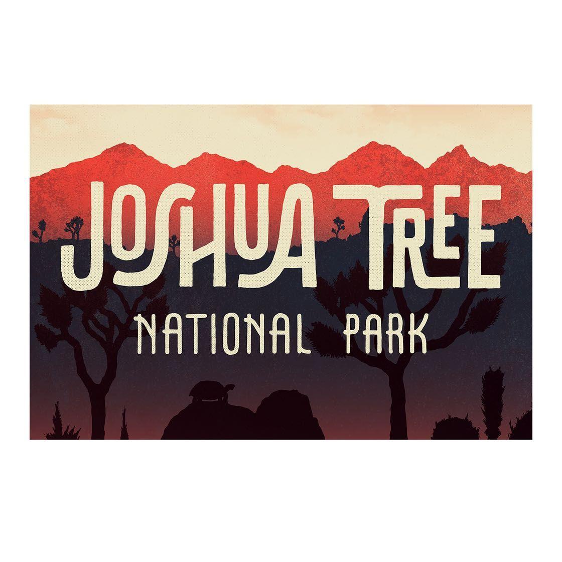 Type Hike Joshua Tree - 12 x 18