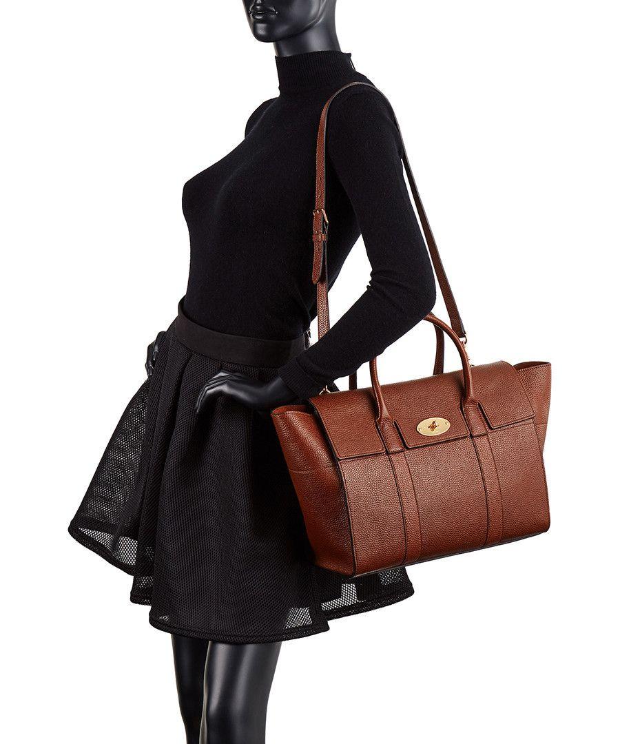 e0163bd9e663 Bayswater oak leather strap grab bag Sale - Mulberry