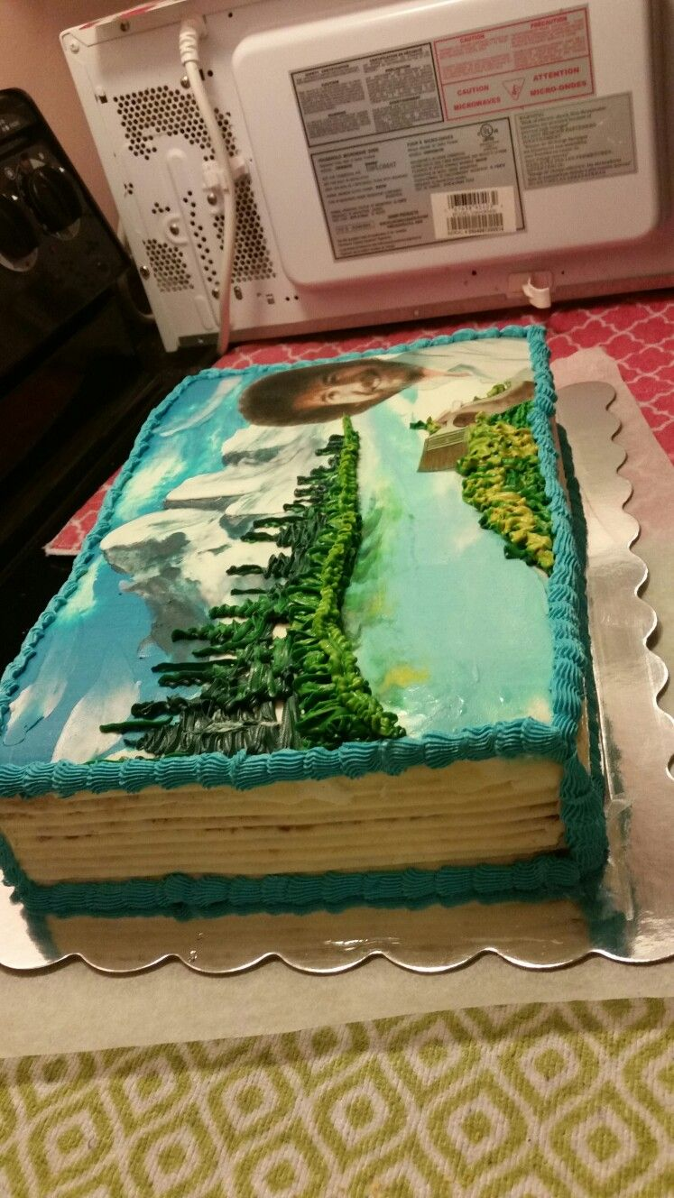 Bob Ross Cake Bob ross birthday, Bob ross, Bob ross