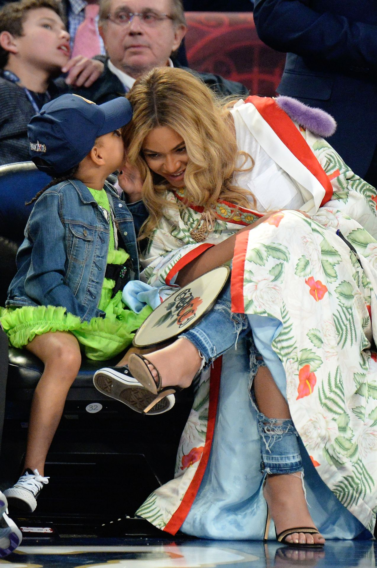 "4eda430845c ""Blue Ivy & Beyoncé attend the 2017 NBA All-Star Game in New Orleans,  Louisiana (February 19) """