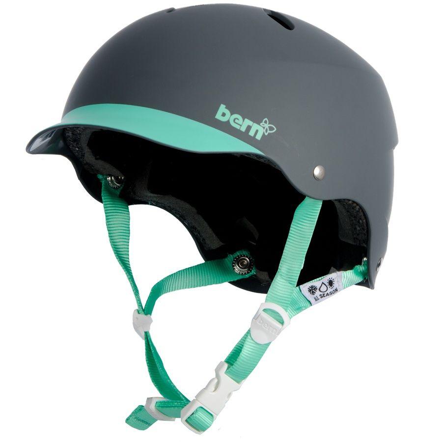 Bern Lenox Hard Hat Women S Skate Bike Helmet M Grey Green Helmet Bike Helmet Women Skates