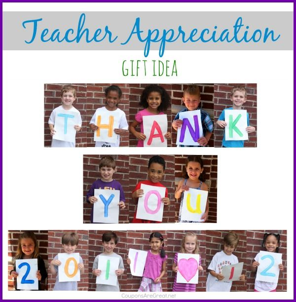 This Teacher Thank You Collage Is A Heartfelt Gift That Easy To Put Together