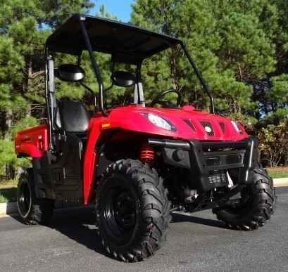 New 2014 Sun Big Horn 400 B UTV Utility Vehicle ATVs For Sale in Illinois. Features & Specifications:liquid cooled engineCVT Transmission2-Speed Transfer Case with High/Low and Reverse4x4 with shaft drive4 Wheel Hydraulic DiscsMcPherson Strut / Trailing ArmHydraulic assist Dump Bed Underseat StorageHigh Capacity winch optional w/ wireless remoteImpact resistant WindshieldLength x width x height104.5 x 57.9 x 73.2 inWheelbase: 71.1 inDry weight 1138 lbsFront wheel AT 25_8-12Rear wheel AT…