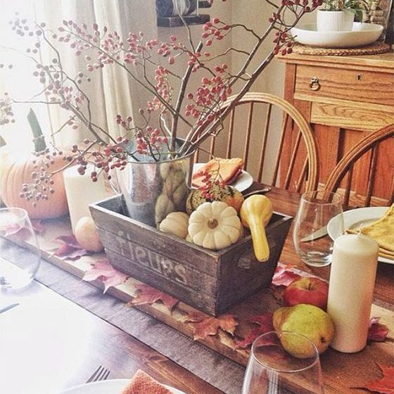 Best of the Bloggers\u0027 Thanksgiving Décor Ideas Thanksgiving table