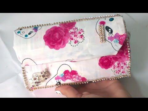 ba0d769a7 Bolsa feita com técnica de Cartonagem - como fechar as laterais da bolsa? -  YouTube