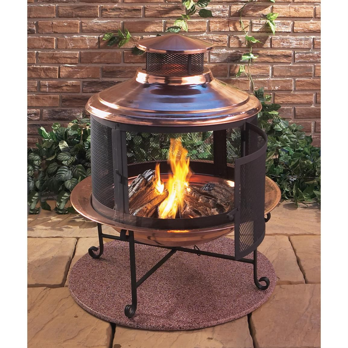 Convertible Fire Pit / Chiminea, Copper - Convertible Fire Pit / Chiminea, Copper Fire Pits Pinterest