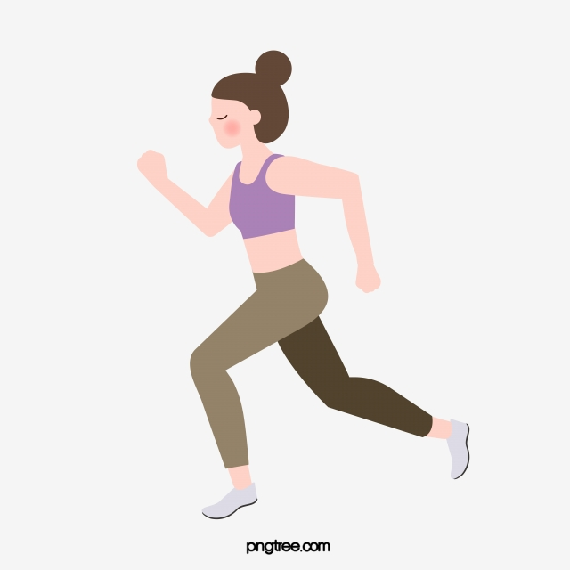 Simple Hand Drawn Womens Running Exercise Fitness Yoga Day Bodybuilding Reduce Weight Cartoon Png And Vector With Transparent Background For Free Download