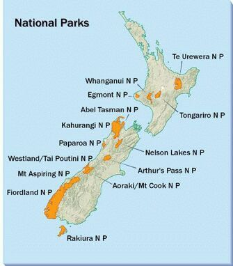 National Parks in New Zealand New Zealand Pinterest Park