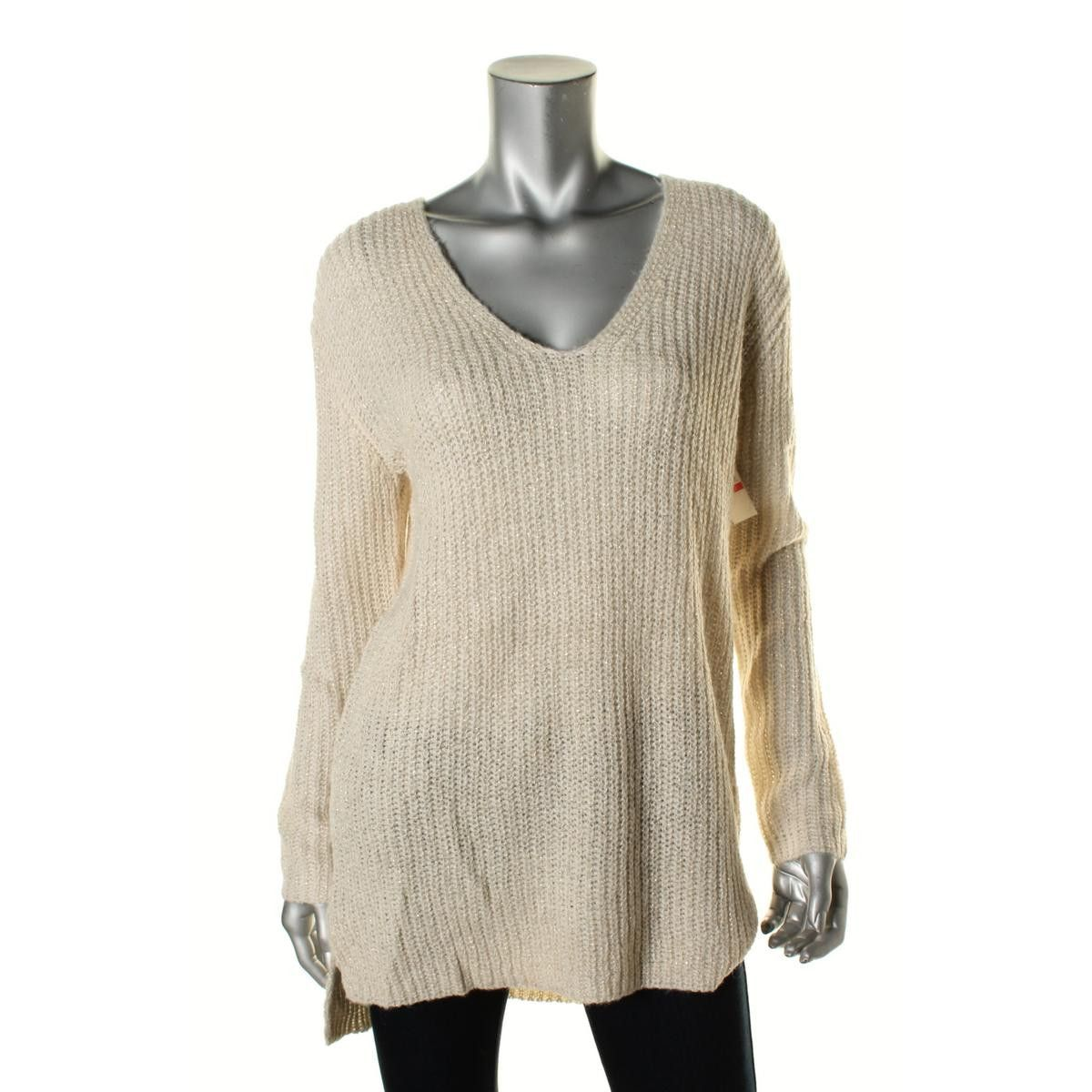Womens Mohair Blend Metallic Tunic Sweater | Tunic sweater, Vince ...