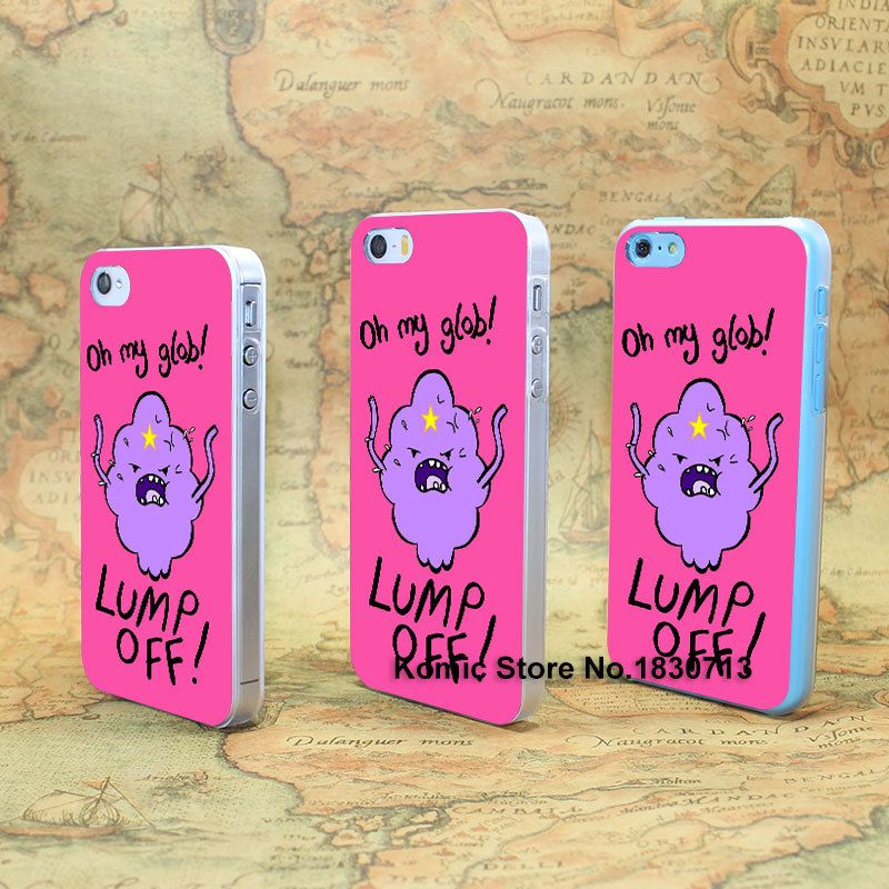 Adventure Time Lumpy Space Princess Design hard transparent clear Skin Cover Case for iPhone 4 4s 4g 5 5s 5g 5c