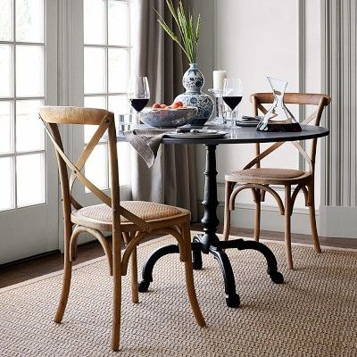 Black Granite Dining Room Table La Coupole Outdoor Dining Table Round Black Granite Top  Side