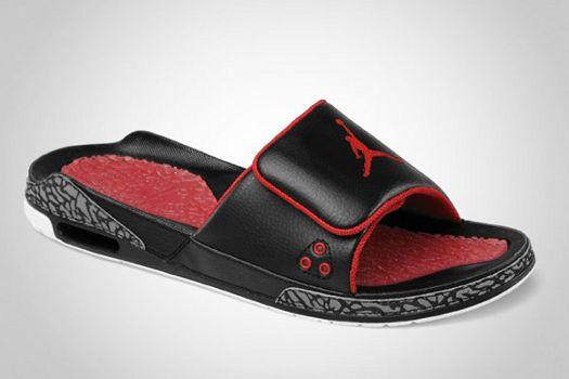 factory price 5766b bd26f Details about Nike Air Jordan 3 III Slide Cement Red Black ...