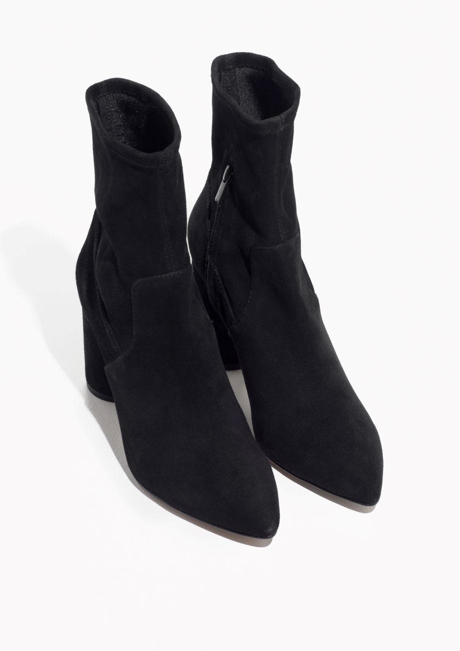 low priced e301a 19715 Other Stories image 2 of Suede Sock Boots in Black